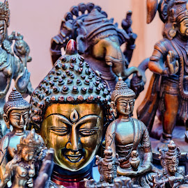 Buddha smiles... by Debanjan Das - Artistic Objects Other Objects ( bronze, sculpture, ladakh, smile, glow, alchi, buddha )