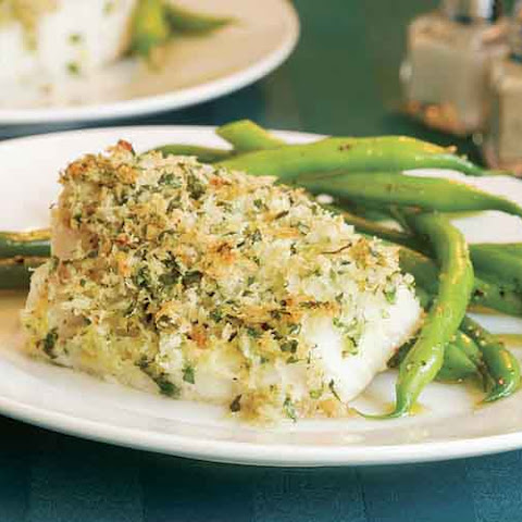 Roasted Cod with Lemon-Parsley Crumbs