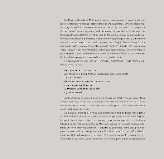 """""""Há um samba de Billy Blanco - Obrigado Excelências - que reflete o otimismo dessa época""""- texto de Fábio Magalhães"""