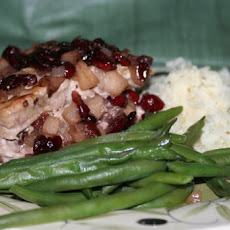Cranberry and Apple Stuffed Pork Chops