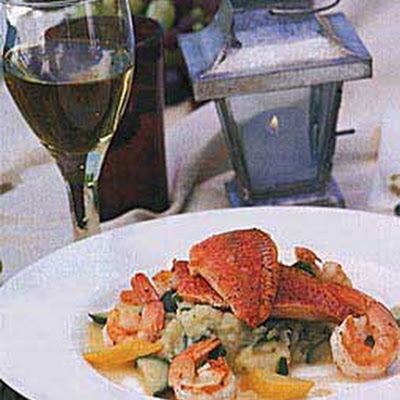 Rouget and Shrimp with Lemon Sauce