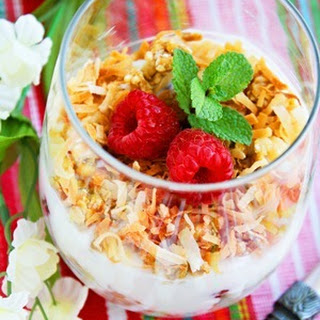 Coconut Granola, Yogurt and Fruit Parfaits