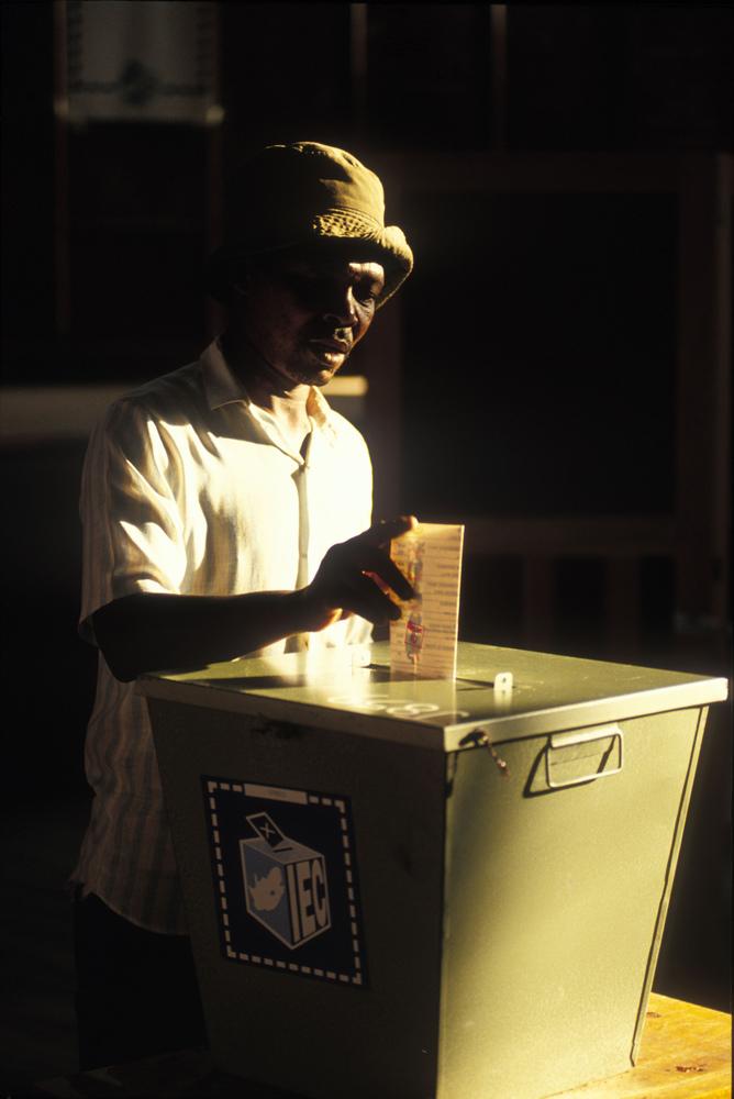 Ejerciendo el derecho al voto
