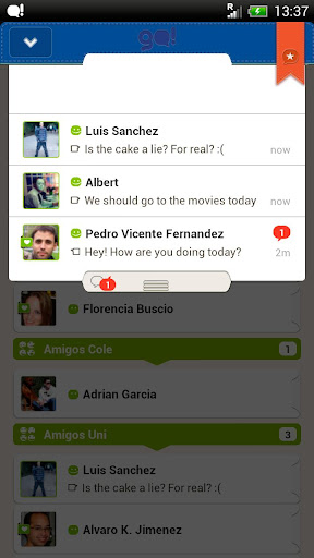 go-chat-for-facebook for android screenshot