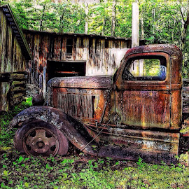@trailblazers_rurex by Richard Jones - Novices Only Landscapes ( trailblazers_rurex, rusty, aged, vintage, truck, HDR, old, abandoned, rustic, America, retro, grunge )