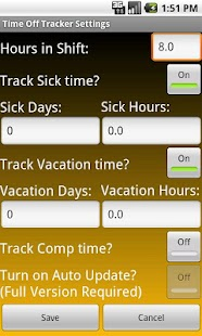 Time Off Tracker Key - screenshot