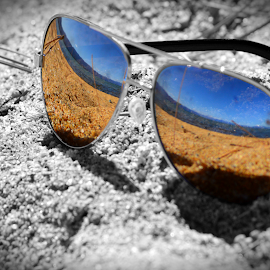 Aviator Beach by Jerrod Edwards - Artistic Objects Clothing & Accessories ( #sand, #california, #vignette, #aviators, #tahoe, #colorsplash, #beach,  )
