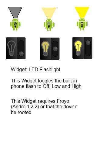 LED Flashlight Widgets