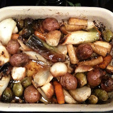 Maple & Balsamic Roasted Root Veggies