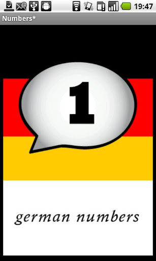 German Numbers Demo