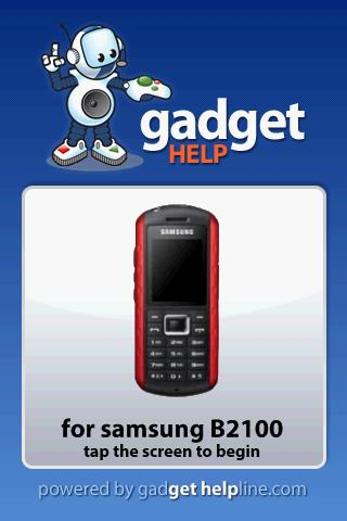 Samsung B2100 - Gadget Help