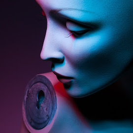 Jezebel  by Jac Conley - Abstract Fine Art ( old, mannequin, one light, gels )