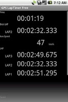 Screenshot of GPS LapTimer Lite