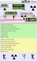 Screenshot of Prepper Inventory