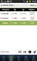 Screenshot of GCM Forex Mobil Trader