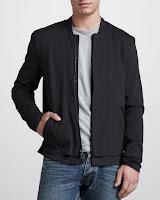 John Varvatos Mock-Collar Zip Jacket