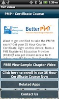 Screenshot of PMP Exam Prep PMBOK v5 - Video