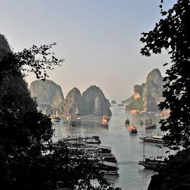 Ha Long Bay, Vietnam by Elliott Brender - Landscapes Travel