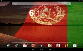 Screenshot of 3D Afghanistan Flag LWP