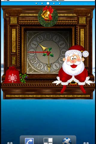 アニメーションクリスマスの目覚まし時計