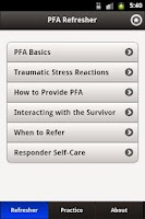 Screenshot of Psychological First Aid (PFA)