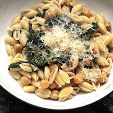 Scott Conant's Cavatelli with Wilted Greens, Pancetta, and Chickpeas