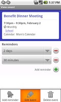 Screenshot of Fliq Calendar