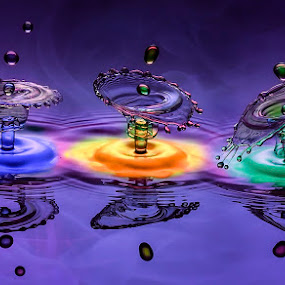 Cheers, Cheers, Cheers... by Chandra Irahadi - Abstract Water Drops & Splashes ( , color, colors, landscape, portrait, object, filter forge, creativity, lighting, art, artistic, purple, mood factory, lights, fun, colorful, vibrant, happiness, January, moods, emotions, inspiration )