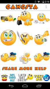 Gangsta Emoticons HD- screenshot thumbnail