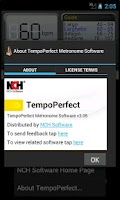 Screenshot of TempoPerfect Free Metronome