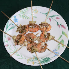 Dill and Garlic Shrimp Skewers