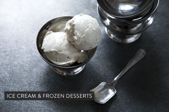 Blue Cheese and Peaches Ice- cream