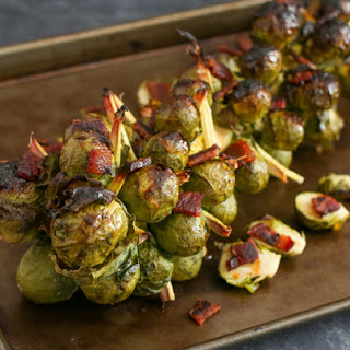 Roasted Bacon Honey Sriracha Brussels Sprouts on the Stalk