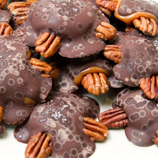Bourbon Pecan Turtles with Fleur de Sel
