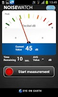 Screenshot of NoiseWatch