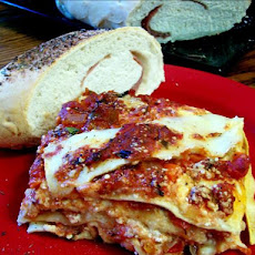 Mashed Potato Lasagna With a Vegetable Sauce