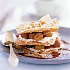 Sautéed Grape Napoleons with Port Reduction