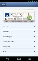 Screenshot of az Solothurner Zeitung Mobile