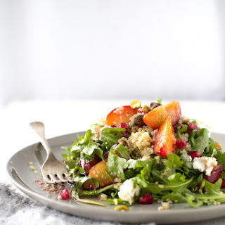 CARAMELIZED PLUM AND QUINOA SALAD WITH POMEGRANATE DRESSING (print)