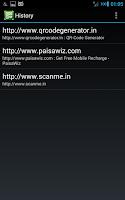 Screenshot of QR Code Reader