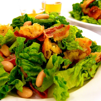 Pancetta & White Bean Salad with Rosemary-Garlic Vinaigrette