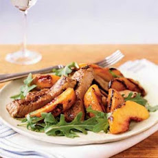 Grilled Peaches and Pork