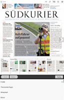 Screenshot of SÜDKURIER ePaper