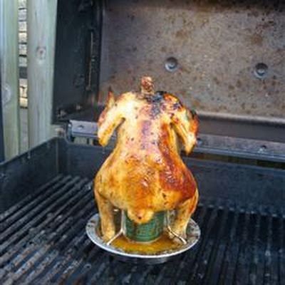 Barbecued Beer Can Chicken