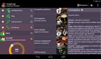 Screenshot of HungiFungi - a gombahatározó