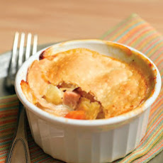 Chicken Potpies with Ham