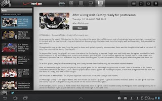 Screenshot of Verizon NHL GameCenter Premium