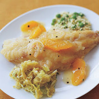 Johns Citrus Fish, Savoy Cabbage and Couscous
