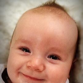 happy baby boy by Lacey Murphy - Babies & Children Child Portraits ( boy )