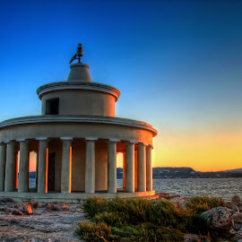 Lighthouse of Saint Theodore (Argostoli-Kefalonia) by Giannis Paraschou - Buildings & Architecture Other Exteriors ( lighthouse of saint theodore (argostoli-kefalonia), sunset greece, kefalonia sunset, lighthouse saint theodore, kefalonia greece, saint theodore,  )
